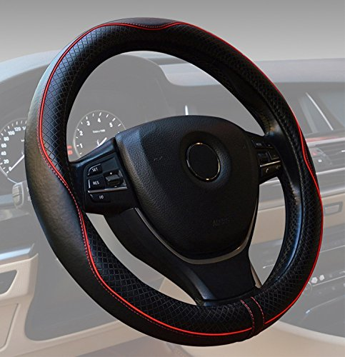 Review: Universal Steering Wheel 15 inch Genuine Leather Protector Anti-Slip Durable Breathable