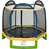 Bounce Pro 14' Trampoline with Flash Light Zone and Safety Net Enclosure