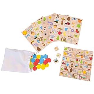Bigjigs Toys Wooden Garden Bingo - Matching Game, Multicolored