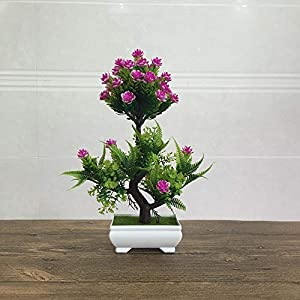 Myzixuan New Simulation Flower Plant Bonsai Green Potted Camellia Indoor and Outdoor Flowers Home Decoration Decorative Ornaments 56