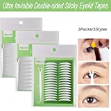 Best Eyelid Tapes - 3Packs/3Styles Eyelid Tapes Invisible Double-Sided Sticky Double Stickers Review
