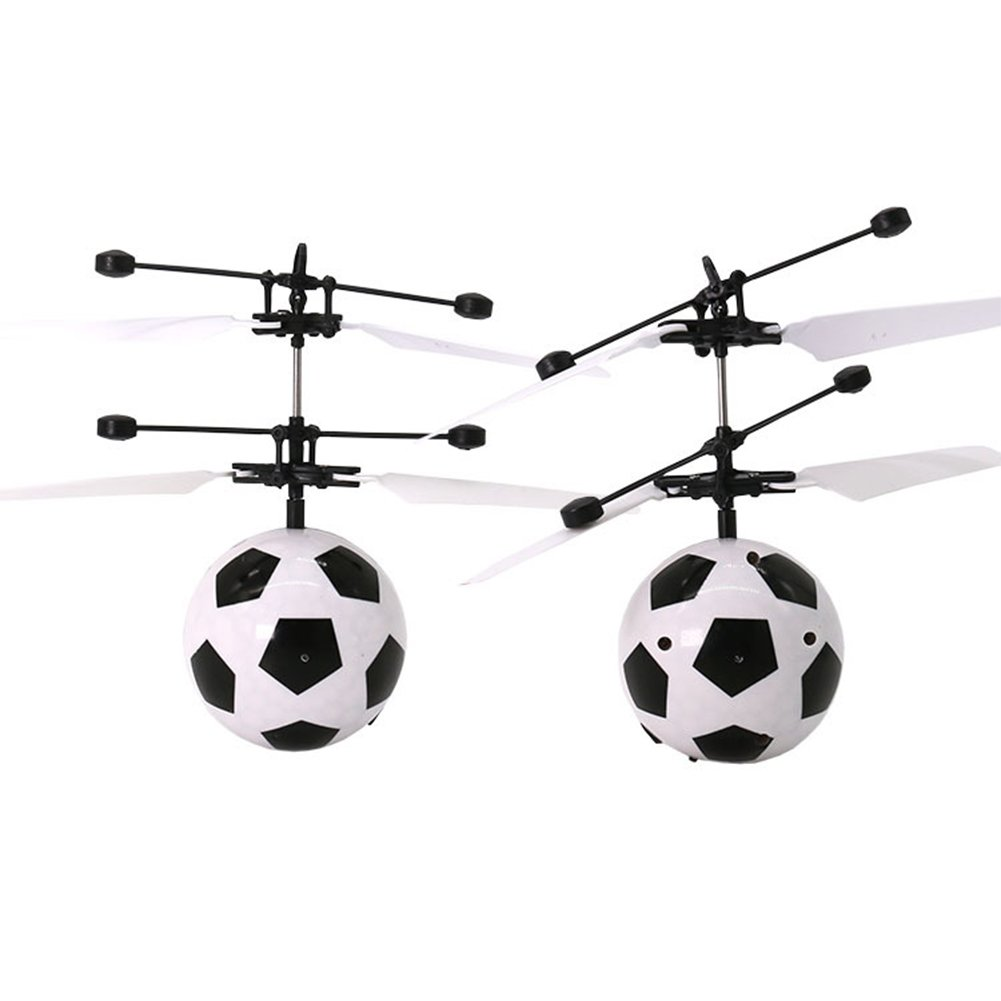 elegantstunning LED Remote Flying Globe//Soccer Flying RC Drone Helicopter Infrared Induction Mini Aircraft for Kids//Teenager