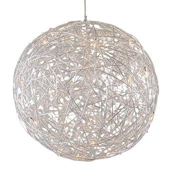 qazqa design modern hanging lamp draht sphere 80cm aluminium round sphere suitable. Black Bedroom Furniture Sets. Home Design Ideas