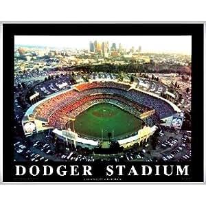 Amazon Com Framed Los Angeles Dodger Stadium Aerial Wall