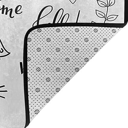 Anti-Slip Zerbino Zerbino Lavabile Kinhevao Dog Doormat Lime Green Blue Magenta RU Bath Mat Ti Amo 3D Letters Nuvole e Cuori Valentines Message Happy Feeling