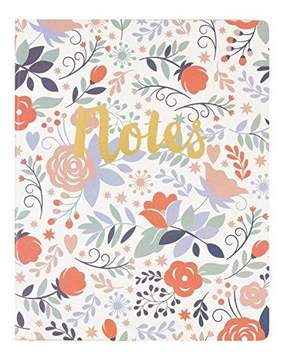 "Eccolo World Traveler 8 x 10"" Desk Journal, Floral Notes (D505T)"