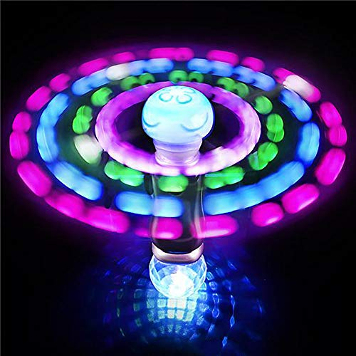 Light Up Rave Toys (Kicko 7.5 Inch Light-up Wand - LED Moon Jelly Spinner Toy - Perfect for Rave Party, Carnival Prizes, Birthday, Orbiter Sticks, Light Toys, Bash, Party Favor, and)