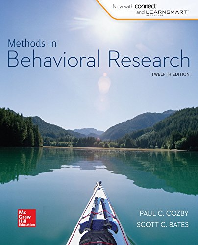 Methods in Behavioral Research (B&B Psychology) Standalone Book cover