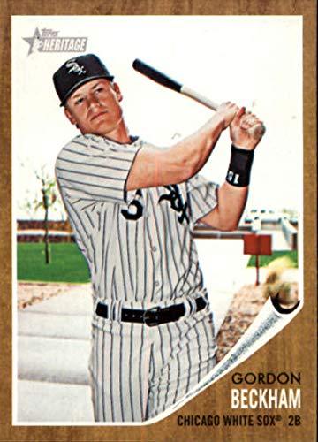 2011 Heritage Card - 2011 Topps Heritage #73 Gordon Beckham White Sox MLB Baseball Card NM-MT