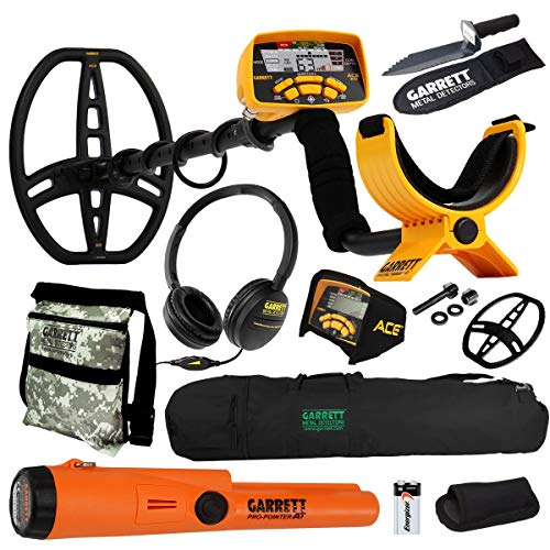 - Garrett ACE 400 Metal Detector with DD Waterproof Coil and Premium Accessories