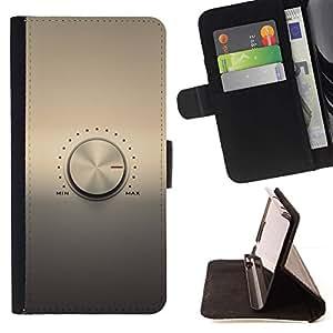 Momo Phone Case / Flip Funda de Cuero Case Cover - Perilla de volumen;;;;;;;; - HTC Desire 820