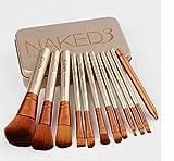 Professional Bamboo Handle Makeup Brushes Set Kabuki Powder Foundation Blusher Face Brushes Cosmetic Brush Kit With Box