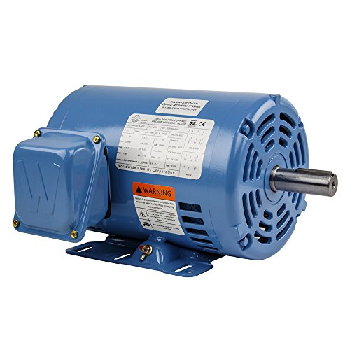 1.5 HP 3 Phase Electric Motor 1800 RPM 145T Frame ODP Open Drip Proof ()