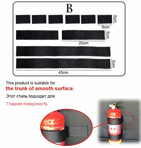 Internal Decoration - 2 Set Car Trunk Fire Extinguisher Receive Content Bag Storage Magic Tape Universal Internal Decoration Supplies Stickers Car-styling