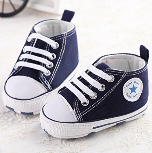 Amazon.com : Baby Shoes Auxma Baby Canvas Sneaker Antiskid Soft Trainer Shoes Prewalker Shoes for 3-18Month (12cm/6-12 M, Blue) : Baby
