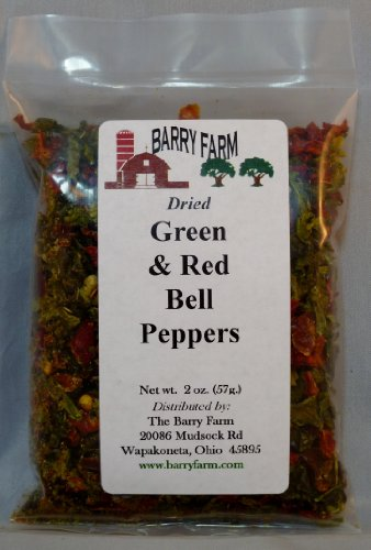 Dried Red and Green Bell Pepper Dices, 2 oz.