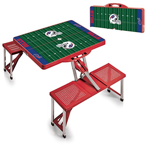 NFL New England Patriots Football Field Design Portable Folding Table/Seats, Red - Nfl Football Plastic Cup