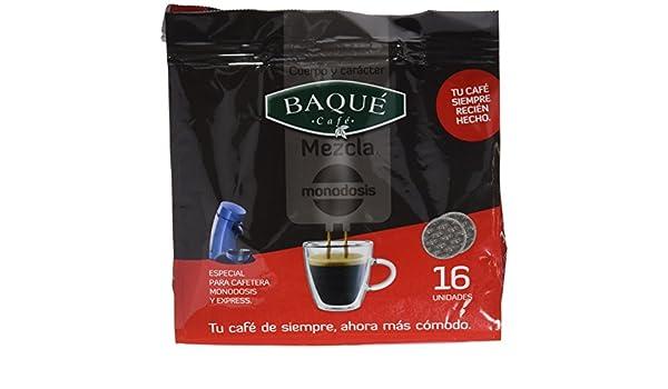 Cafés Baqué Monodosis Mezcla - 16 Monodosis - [Pack de 5]: Amazon ...