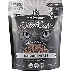 VITAL ESSENTIALS CAT FREEZE-DRIED MINI NIBS RABBIT 12OZ