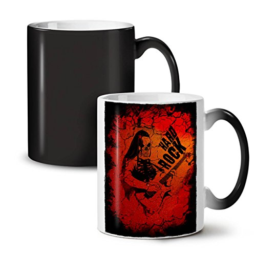 Hard Rock Guitar Music Dead Black Colour Changing Tea Coffee Ceramic Mug 11 oz | Wellcoda