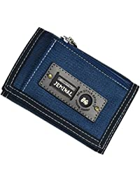 New Canvas Short Trifold Men's Boys Wallets Purse with Coin Pocket
