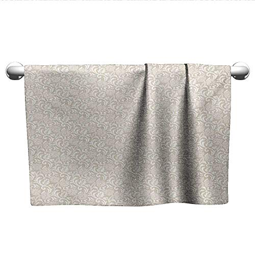 alisoso Floral,Wholesale Towels Victorian Inspirations in Floral Composition with Vintage Artistic Foliage Leaves Quick-Dry Towels Beige White W 35