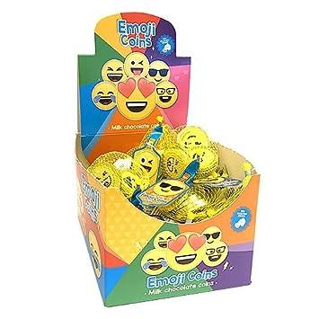 Amazon.com : Fort Knox Milk Chocolate Emoji Coins - 2-oz ...
