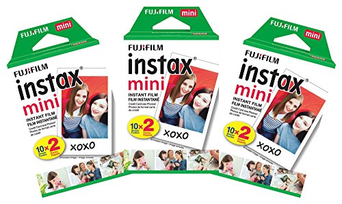 Fujifilm Instax Mini Instant Film Value Pack - (3 Twin Packs, 60 Total Pictures)