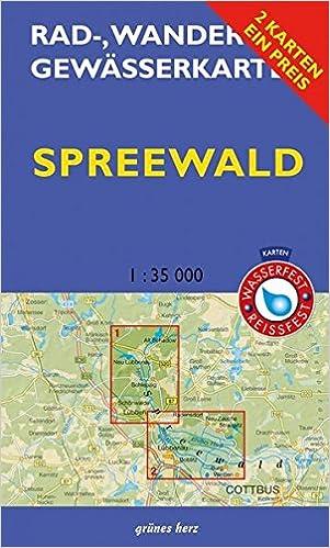 Karte Spreewald Lubbenau.Rad Wander Und Gewasserkarten Set Spreewald Mit Den
