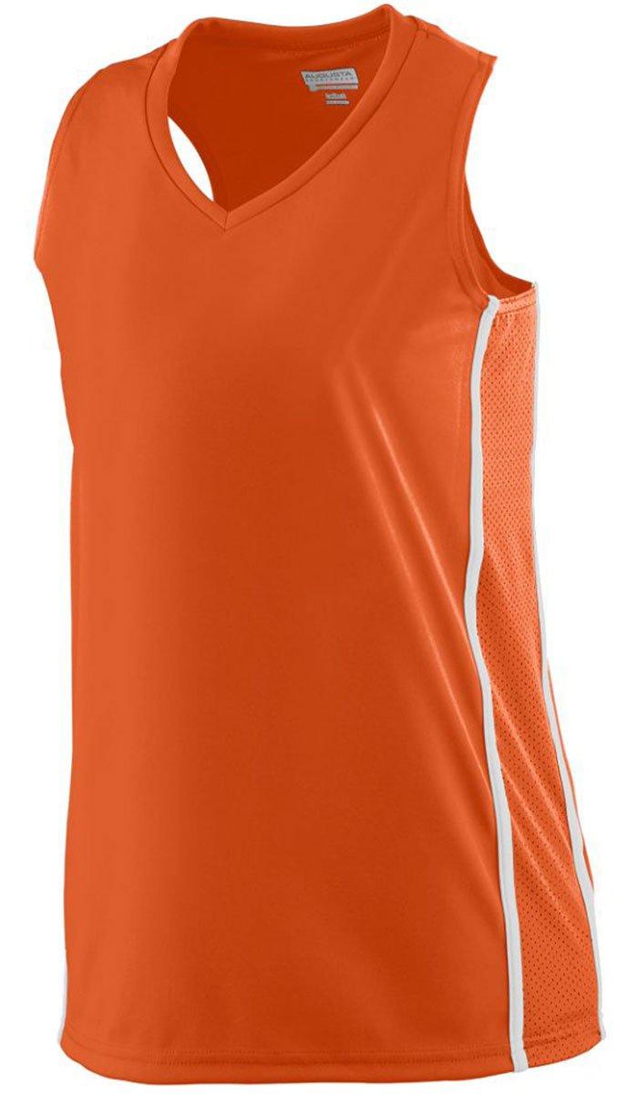 Augusta SportswearレディースWinning Streak Racerback Jersey B00IUJFYF4 Medium|オレンジ/ホワイト オレンジ/ホワイト Medium