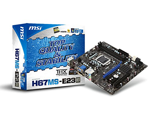 Msi Channel Dual (MSI H67MS-E23 (B3) LGA1155 Intel H67(B3) DDR3 SATA3 A&GbE MATX Motherboard)