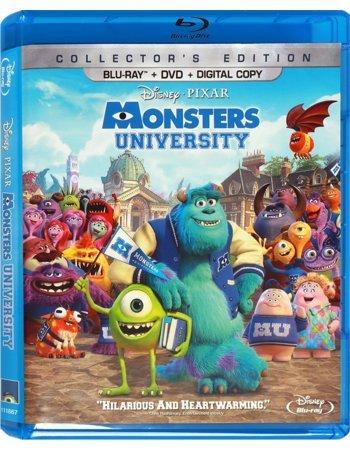 Monsters University (Blu-ray + DVD + Digital Copy) (Monsters Inc And Monsters University Blu Ray)