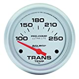"Auto Meter 4457 Ultra-Lite 2-5/8"" 100-250 F Short Sweep Electric Transmission Temperature Gauge"