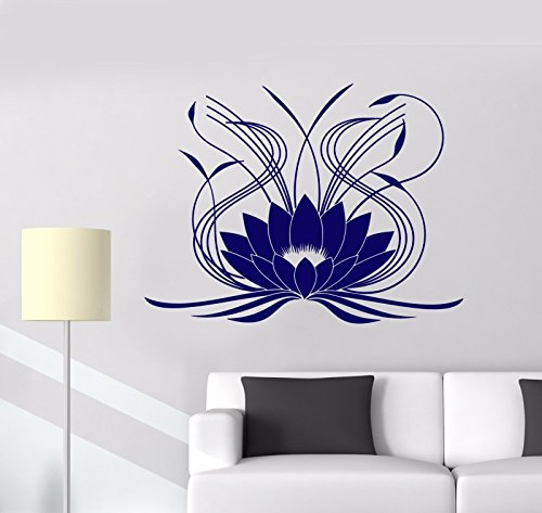Vinyl Wall Decal Lotus Flower Ornament Floral Stickers Mural - lotus flower wall decor