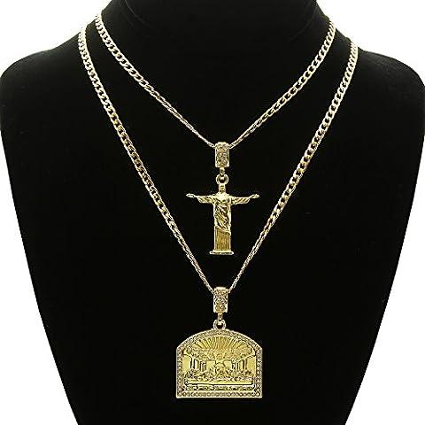 14K Gold Tone St Steel Chain 24