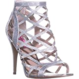 Best Betsey Johnson Ankle Boots - Betsey Johnson Juliette Strappy Ankle Booties, Silver, 11 Review