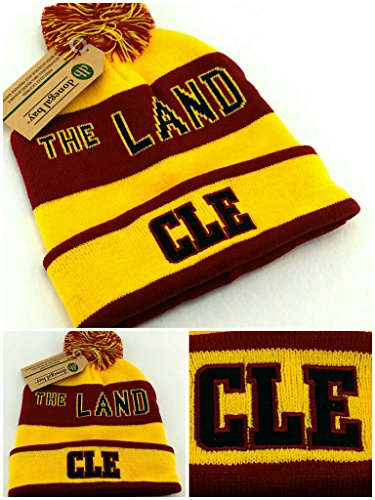 Donegal Bay Cleveland New The Land Beanie Cuffed Pom Cavalie