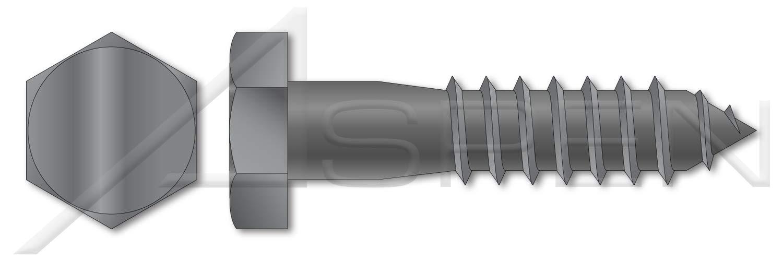 Plain 5//16 X 6 Hex Head Lag Screw Bolts 300 pcs Steel
