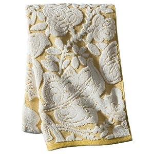 textured floral decorative bath towels yellow bath towel