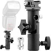 Anwenk Flash de la cámara Soporte Speedlite Soporte de soporte giratorio de luz con soporte de reflector de paraguas para cámara DSLR Nikon Canon Pentax Olympus y otros flashes DSLR Luz de estudio Luz LED