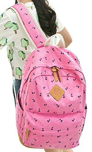 Para Capacidad De Ciervo Tipo Grand Juvenil Dato Mochilas Lona Escolares Red Mujer Backpacks Mochila Casual Viaje Bolso Rose Moda 7BnCwq0
