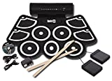 RockJam RJ760MD Electronic Roll Up MIDI Drum Kit with Built in Speakers, Foot Pedals, Drumsticks, and Power Supply