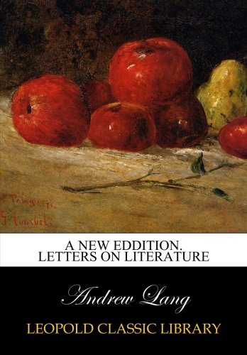 A New Eddition. Letters on literature ebook