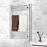 Homedex Towel Warmer Rack, Steel Heated Drying Rack Plug-in Wall Mounted Towel Warmer Rack for Bathroom
