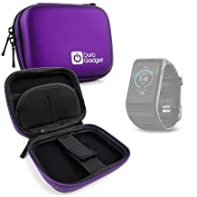 DURAGADGET Premium Quality Shock Absorbent Purple Hard Shell Case - Compatible with the Garmin Vivo Active HR and Garmin Vivofit 3 Smartwatches - with Carabiner Clip