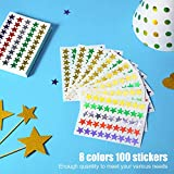 100 Sheets 4500 Counts Foil Star Stickers Reward