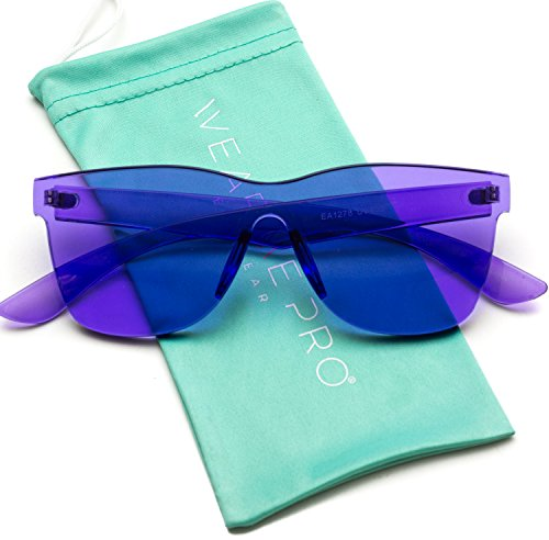 WearMe Pro - Horn Rimmed Tinted Colorful Lens Rimless ()