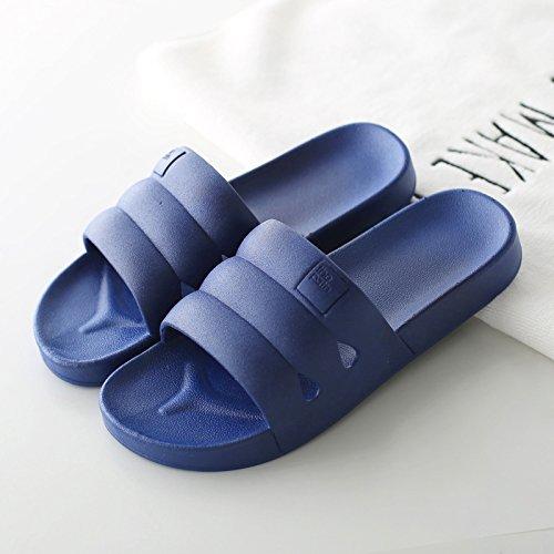 bagno DogHaccd giapponese pantofole Il spessa scuro3 Blu antiscivolo home pantofole bagno cool soggiorno coppie pantofole indoor estate plastica maschio femmina in BEwqBr1