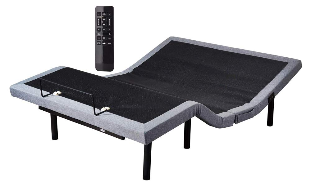 Comsuit Asaren Queen Adjustable Bed Frame Base | Wireless Remote | Head and Foot Incline | Massage | USB Charge | Under-Bed Lighting | Zero Gravity | No Tools Required Assembly | D550