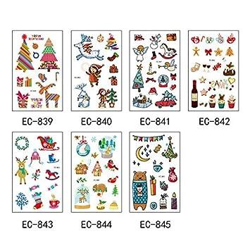 7 tatuajes temporales en 1 paquete, incluidos copos de nieve ...